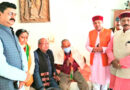 भाजपा प्रदेश अध्यक्ष पहुंचे वरिष्ठ नेता मोहन लाल बौठियाल के घर, जाना हालचाल