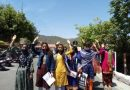 गौरा देवी योजना का लाभ दिलाने की मांग को छात्राओं का प्रदर्शन