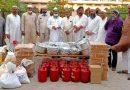 अग्नि कांड पीड़ितों को जरूरी सामान व खाद्य सामग्री उपलब्ध करायी