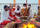 संतों के सानिध्य में कुंभ मेला आईजी संजय गुंज्याल ने की पूजा अर्चना