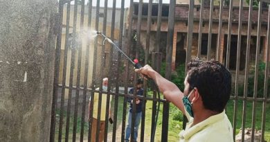 राइंका कुंभीचौड़ में सेनीटाइजेशन कार्य शुरू