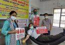 चिकित्सा विभाग के चतुर्थ श्रेणी कर्मियों ने किया रक्तदान