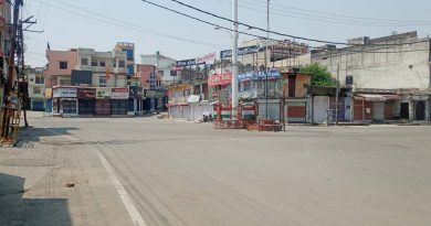 कोरोना कफ्र्यू: रविवार को कोटद्वार में सड़के सुनसान