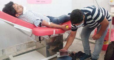भाजयुमो ने बेस अस्पताल में लगाया रक्तदान शिविर, 10 कार्यकर्ताओं ने किया रक्तदान