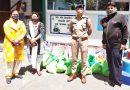 पुलिस की कम्यूनिटी बास्केट में 20 राशन किट दी