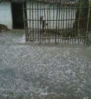 चलणस्यूं क्षेत्र के अमकोटी-कफोली गांव में अतिवृष्टि व तूफान से हुआ नुकसान
