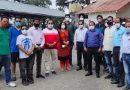 रेडक्रास सोसाइटी ने किए अस्पताल व थाने में मास्क व सेनिटाइजर प्रदान