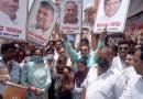 आरटीपीसीआर जांच घोटाले के विरोध में कांग्रेस कार्यकर्ताओं ने मेयर अनिता शर्मा के नेतृत्व में किया पैदल मार्च