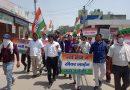 नगर निगम के नए वार्डो में सीवर लाईन नहीं डाले जाने के विरोध में कांग्रेस कार्यकर्ताओं ने किया प्रदर्शन