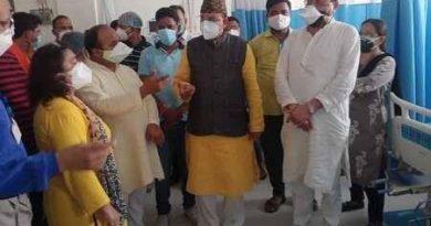 खटीमा में सांसद भट्ट ने किया कोविड व आईसीयू वार्ड का निरीक्षण निरीक्षण