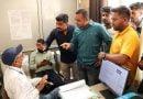 सीवर लाइन कार्य बंद होने से भड़के  लोगों ने किया पेयजल निगम दफ्तर पर हंगामा