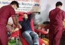 रक्तदान शिविर में 220 लोगों ने किया रक्तदान, पूर्वसीएम त्रिवेंद्र ने नियमित रक्तदाताओं का किया सम्मान