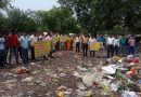 स्थानीय निवासियों ने किया बैरागी कैंप को डंपिंग जोन बनाने का विरोध