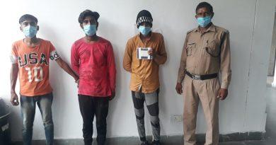 मकान में चोरी करने के मामले में तीन गिरफ्तार