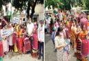 बढ़ती मंहगाई के विरोध में कांग्रेस महिला मोर्चा की पदयात्रा