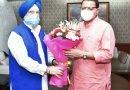 सीएम पुष्कर धामी ने की केंद्रीय मंत्री आवासन एवं शहरी कार्य मंत्रालय हरदीप सिंह पुरी से भेंट