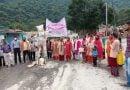 40 दिनों से आंदोलनरत बांध प्रभावितों का सड़कों पर उतरकर प्रदर्शन