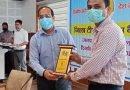 टीबी रोग से स्वस्थ हुए व्यक्तियों को किया सम्मानित