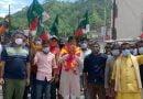 भू-कानून को लेकर निकाली गई रैली रोकने पर भड़के उक्रांद कार्यकर्ता